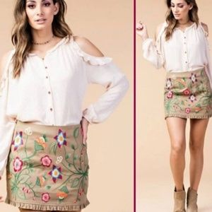 Kori embroidered skirt